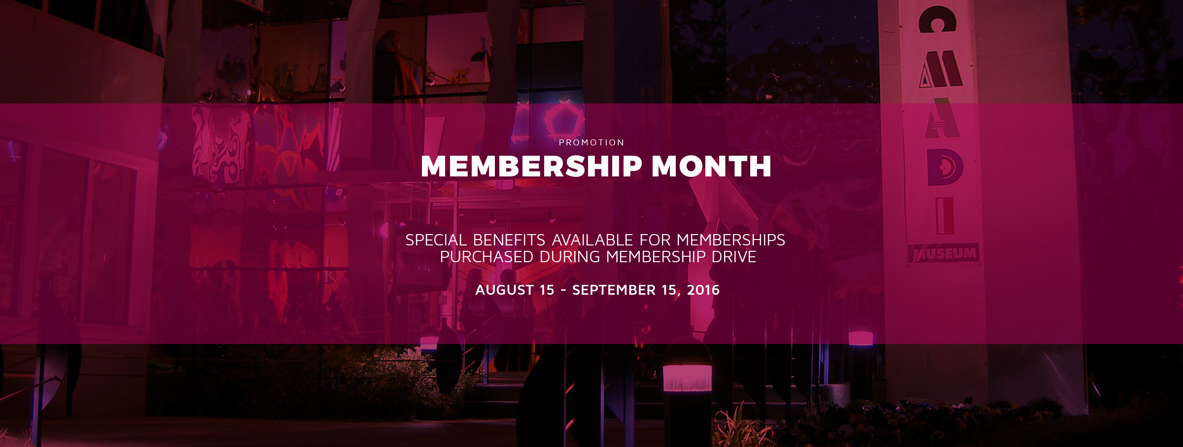 Membership Month at the Museum of Geometric and MADI Art