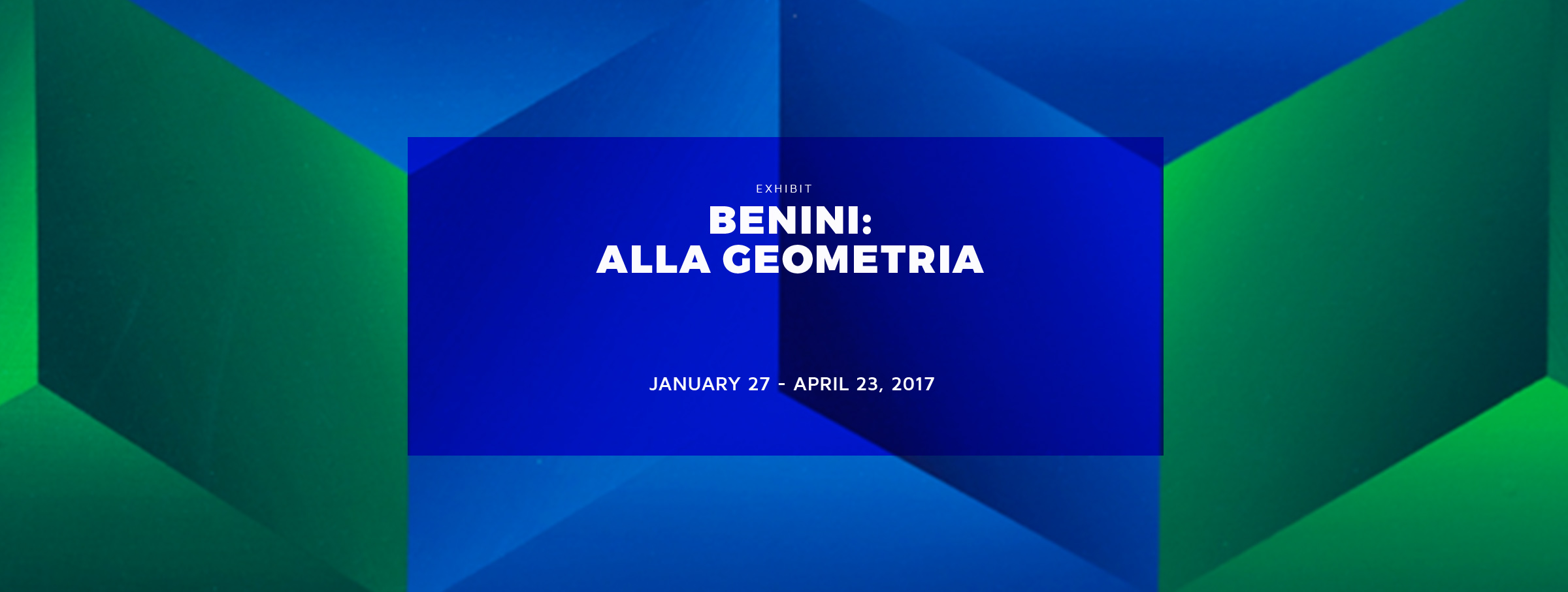 See Benini at Geometric MADI